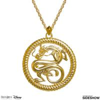 Gallery Image of Mushu Medallion (Gold) Necklace Jewelry