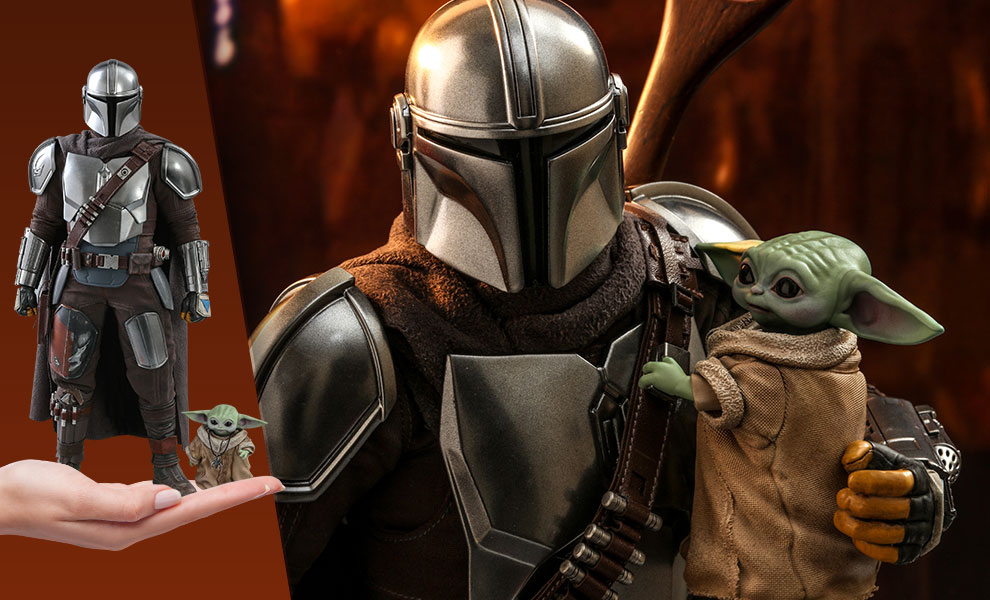 Gallery Feature Image of The Mandalorian and The Child Collectible Set - Click to open image gallery