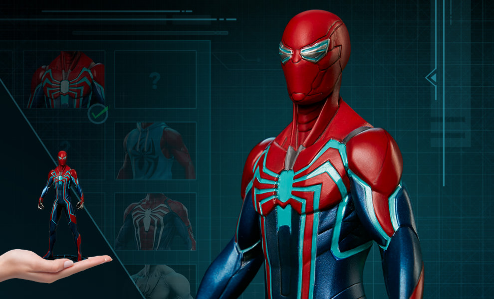 Gallery Feature Image of Marvel's Spider-Man: Velocity Suit 1:10 Scale Statue - Click to open image gallery