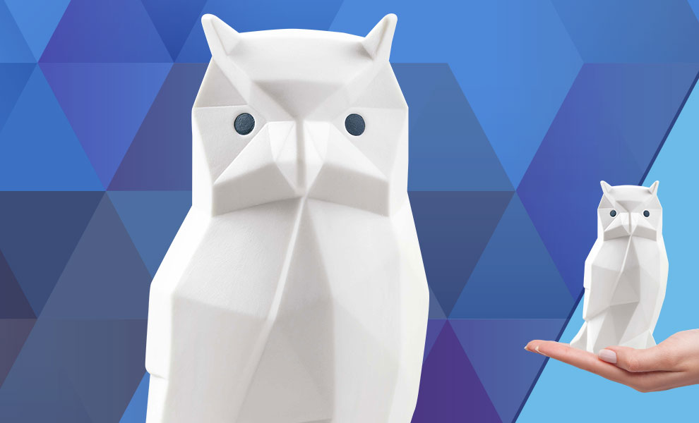 Gallery Feature Image of Owl (Matte White) Porcelain Statue - Click to open image gallery