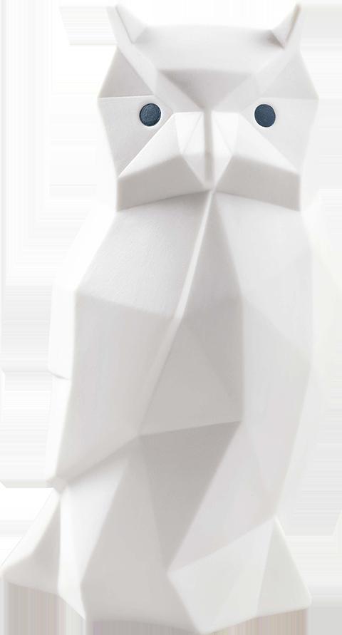 Lladró Owl (Matte White) Porcelain Statue
