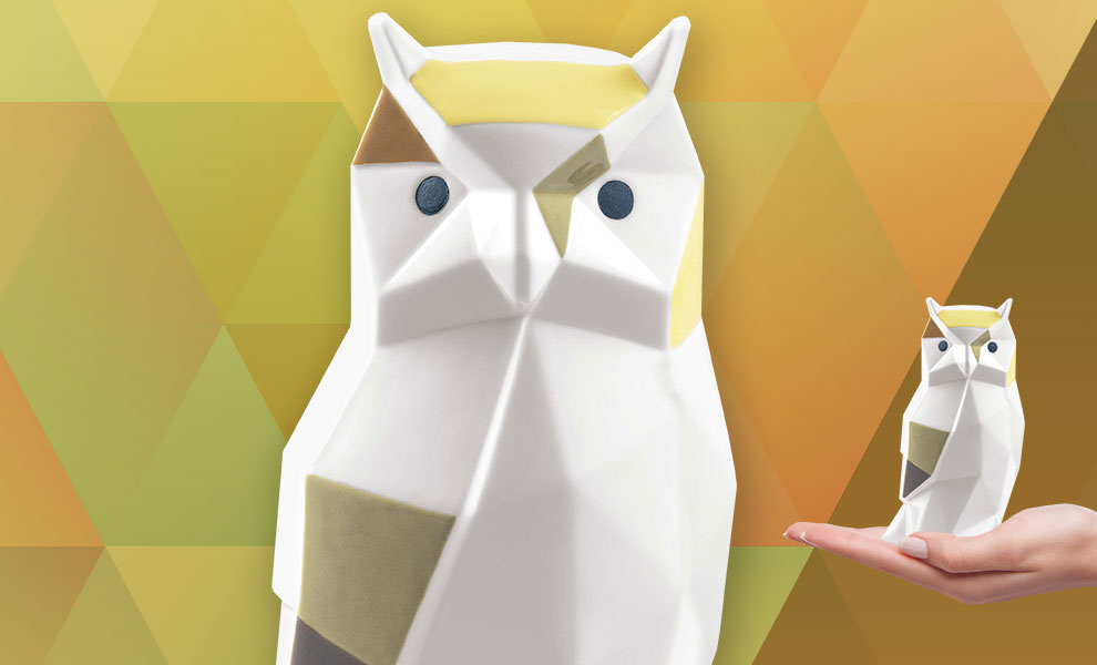 Gallery Feature Image of Owl Porcelain Statue - Click to open image gallery