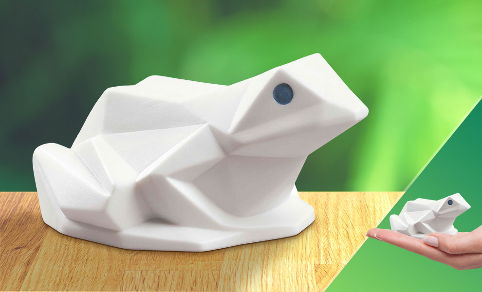 Gallery Feature Image of Frog (Matte White) Porcelain Statue - Click to open image gallery