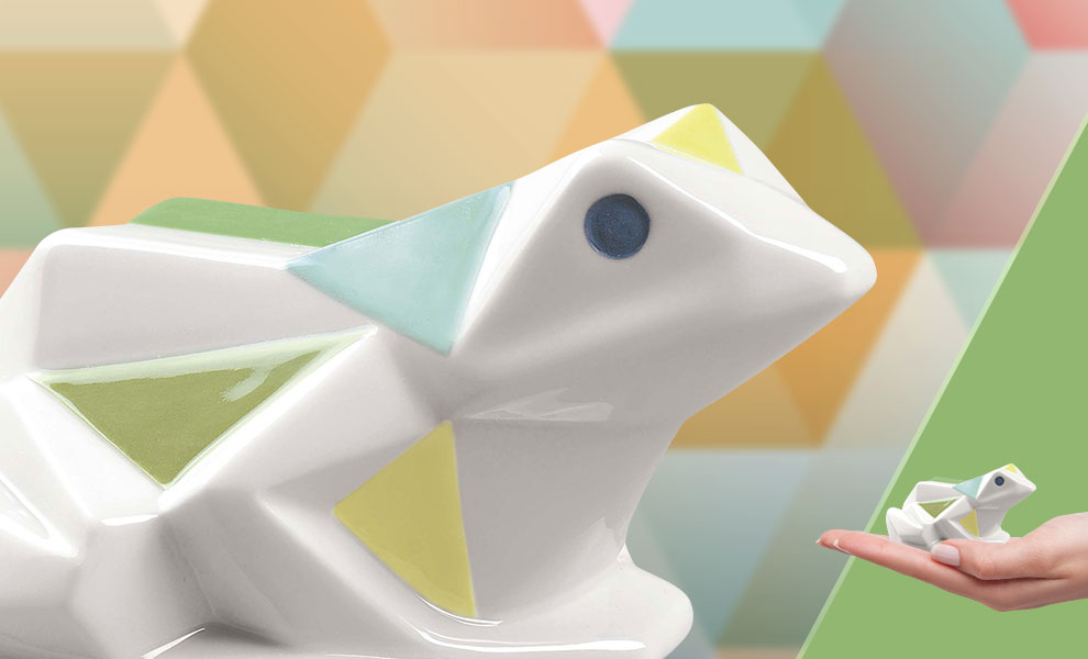 Gallery Feature Image of Frog Porcelain Statue - Click to open image gallery