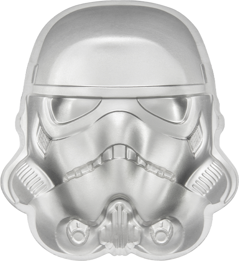 New Zealand Mint Stormtrooper Helmet Silver Coin Silver Collectible
