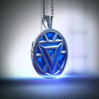Gallery Image of Iron Man's Arc Reactor Necklace (Turquoise) Jewelry
