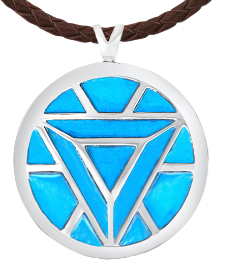 Whats Your Passion Jewelry Iron Man's Arc Reactor Necklace (Turquoise) Jewelry