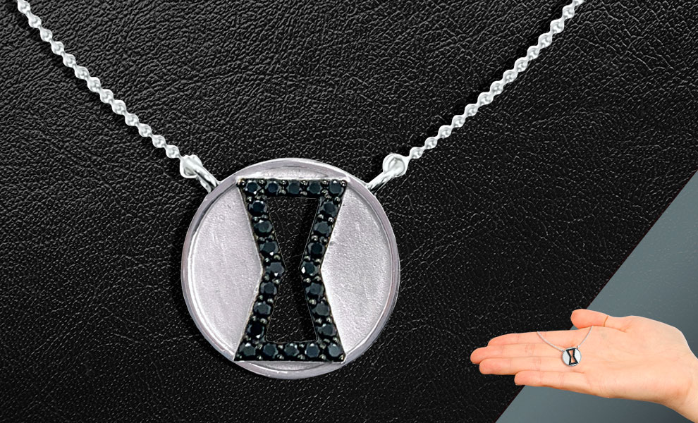 Gallery Feature Image of Black Widow Black Diamond Necklace Jewelry - Click to open image gallery