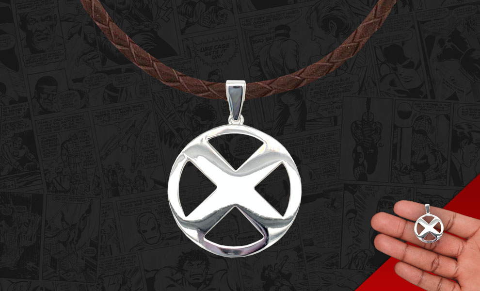 Gallery Feature Image of X-Men Logo Necklace Jewelry - Click to open image gallery