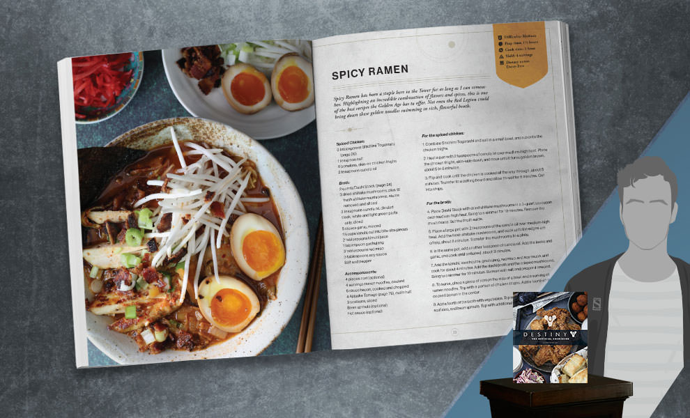 Gallery Feature Image of Destiny: The Official Cookbook Book - Click to open image gallery