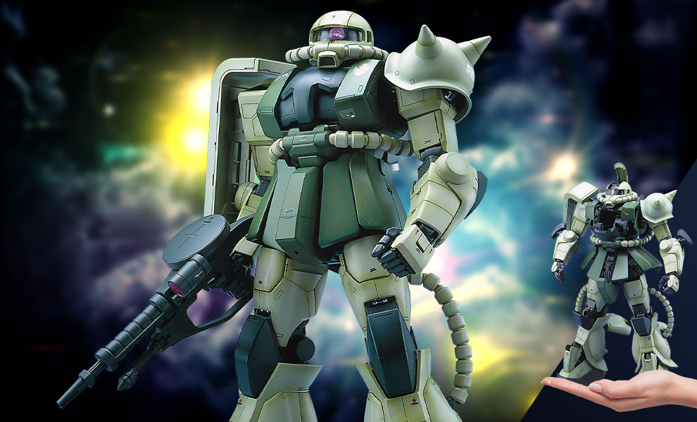 Gallery Feature Image of MS-06F Zaku II Green Figure - Click to open image gallery