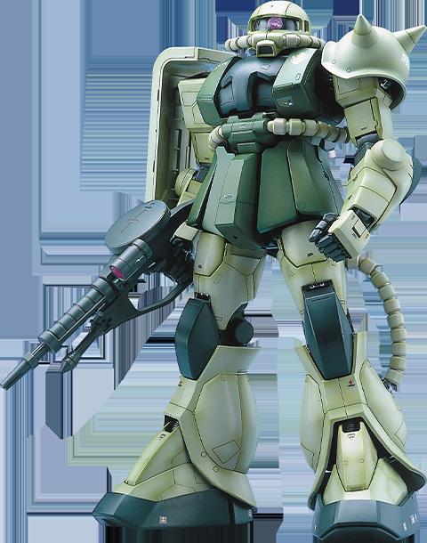 Bandai MS-06F Zaku II Green Figure
