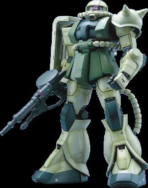 MS-06F Zaku II Green Figure