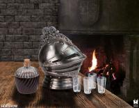 Gallery Image of Medieval Knights Helmet Decanter Set Collectible Drinkware