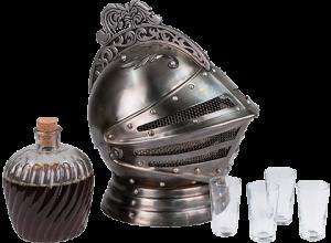 Medieval Knights Helmet Decanter Set Collectible Drinkware