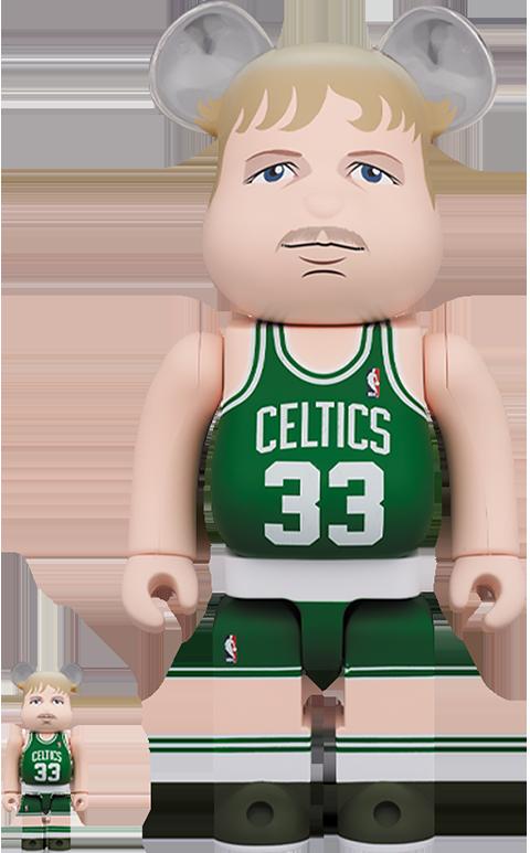 Medicom Toy Be@rbrick Larry Bird (Boston Celtics) 100% and 400% Collectible Set