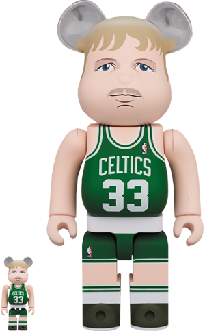 Be@rbrick Larry Bird (Boston Celtics) 100% and 400% Collectible Set