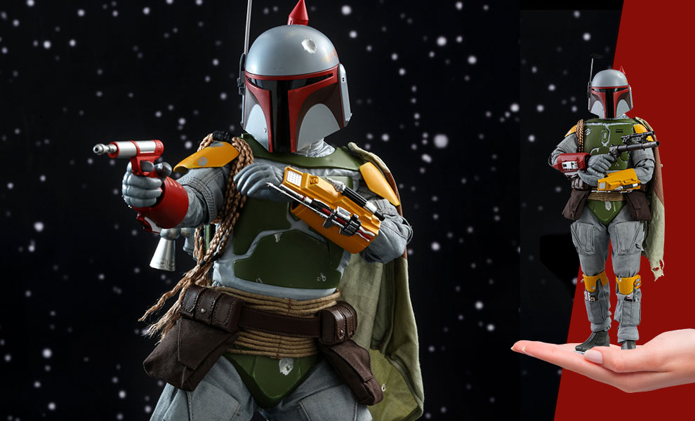Gallery Feature Image of Boba Fett (Vintage Color Version) Sixth Scale Figure - Click to open image gallery