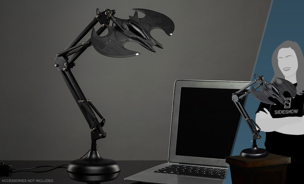 Gallery Feature Image of Batwing Posable Desk Light Collectible Lamp - Click to open image gallery