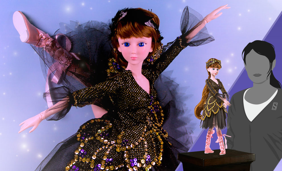 Gallery Feature Image of Black Swan (Odile) Collectible Doll - Click to open image gallery