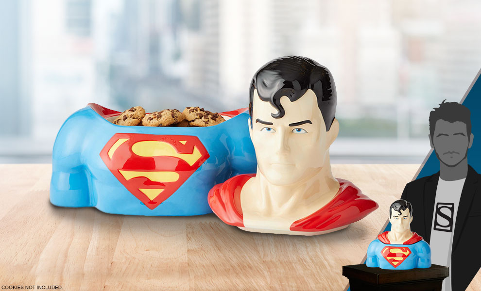 Gallery Feature Image of Superman Cookie Jar Kitchenware - Click to open image gallery