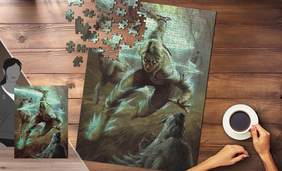 Gallery Feature Image of The Witcher 3: Ciri and the Wolves Puzzle - Click to open image gallery