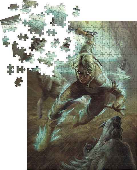 Dark Horse Comics The Witcher 3: Ciri and the Wolves Puzzle