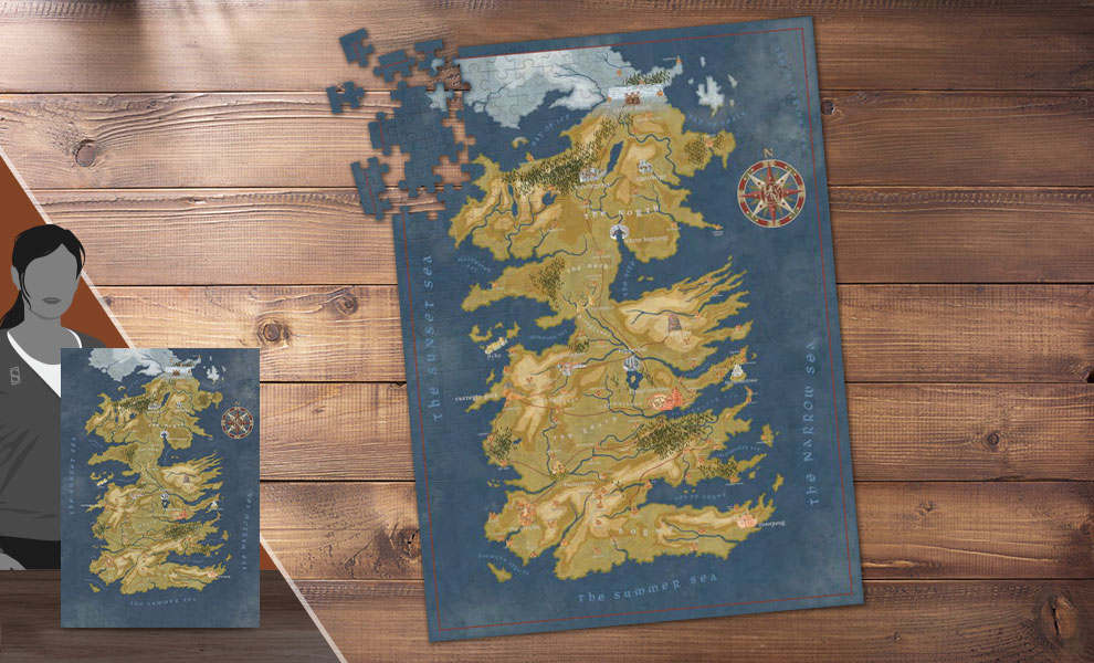 Gallery Feature Image of Game of Thrones: Cersei Lannister Westeros Map Puzzle - Click to open image gallery