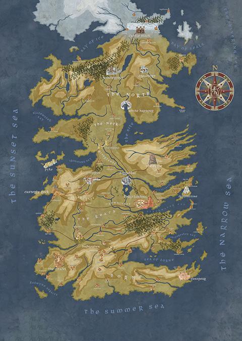 Dark Horse Comics Game of Thrones: Cersei Lannister Westeros Map Puzzle