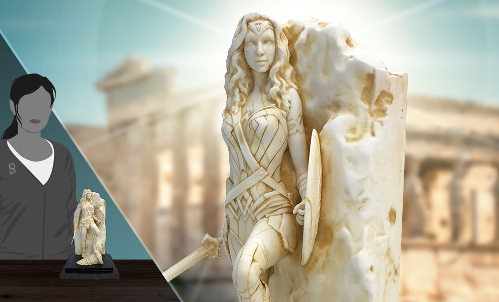 Gallery Feature Image of Wonder Woman (Neo-Classical Marble) Statue - Click to open image gallery