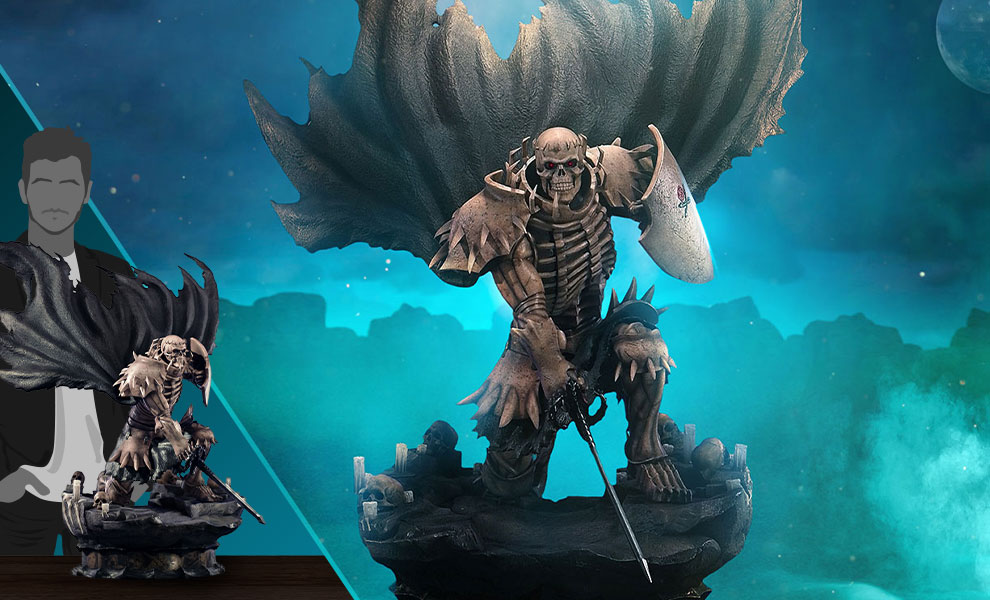 Gallery Feature Image of Skull Knight (White Bone Variant) Statue - Click to open image gallery