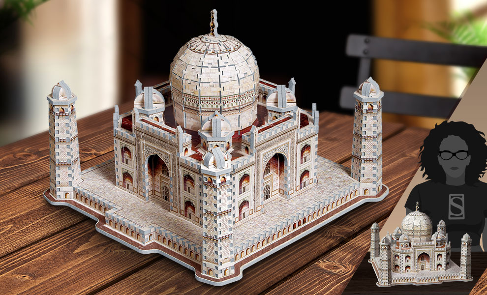 Gallery Feature Image of Taj Mahal 3D Puzzle Puzzle - Click to open image gallery