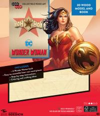Gallery Image of Wonder Woman 3D Wood Model and Book Model Kit