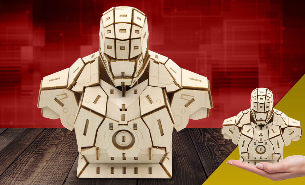 Gallery Feature Image of Iron Man Signature Series 3D Wood Model Model Kit - Click to open image gallery