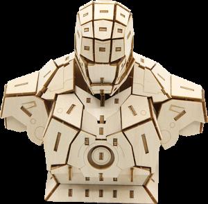Iron Man Signature Series 3D Wood Model Model Kit
