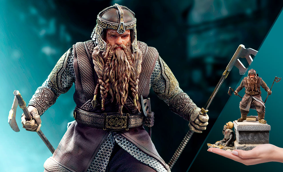 Gallery Feature Image of Gimli Deluxe 1:10 Scale Statue - Click to open image gallery