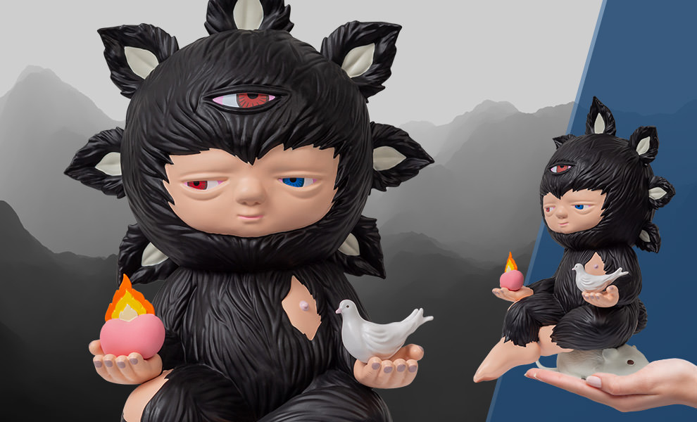 Gallery Feature Image of Baby Beyond (Black Edition) Polystone Statue - Click to open image gallery