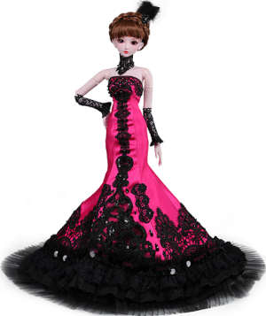 Pink Lady Collectible Doll
