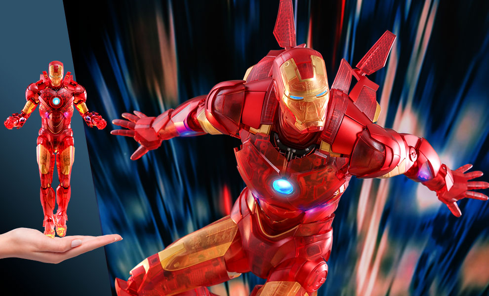 Gallery Feature Image of Iron Man Mark IV (Holographic Version) Sixth Scale Figure - Click to open image gallery