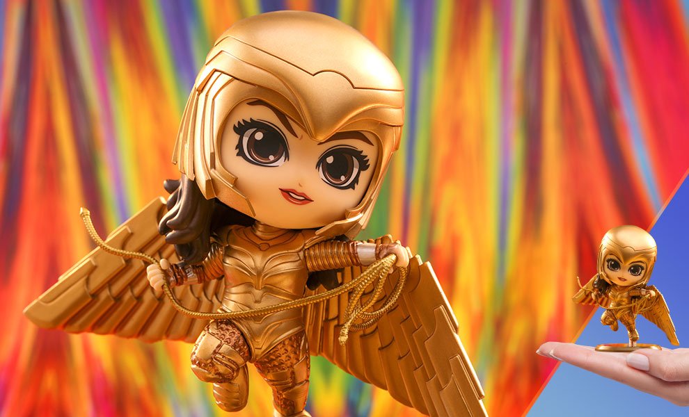 Gallery Feature Image of Golden Armor Wonder Woman (Flying Version) Collectible Figure - Click to open image gallery