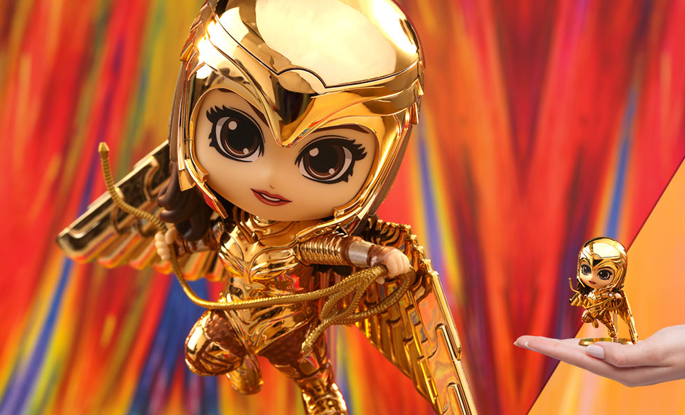 Gallery Feature Image of Golden Armor Wonder Woman (Metallic Gold Version) Collectible Figure - Click to open image gallery