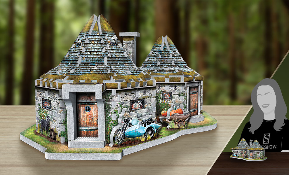 Gallery Feature Image of Hagrid's Hut 3D Puzzle Puzzle - Click to open image gallery