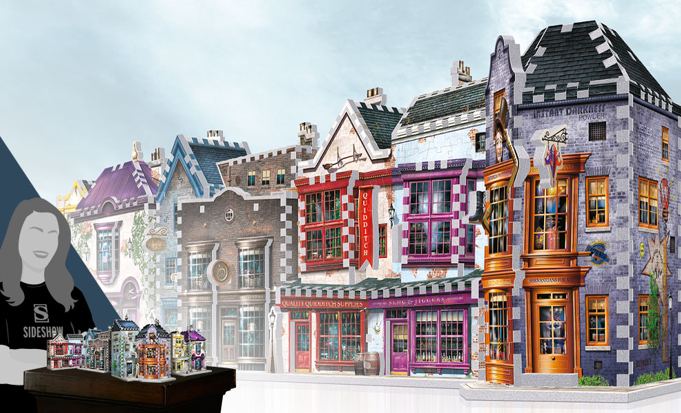Gallery Feature Image of Diagon Alley 3D Puzzle Set Puzzle - Click to open image gallery