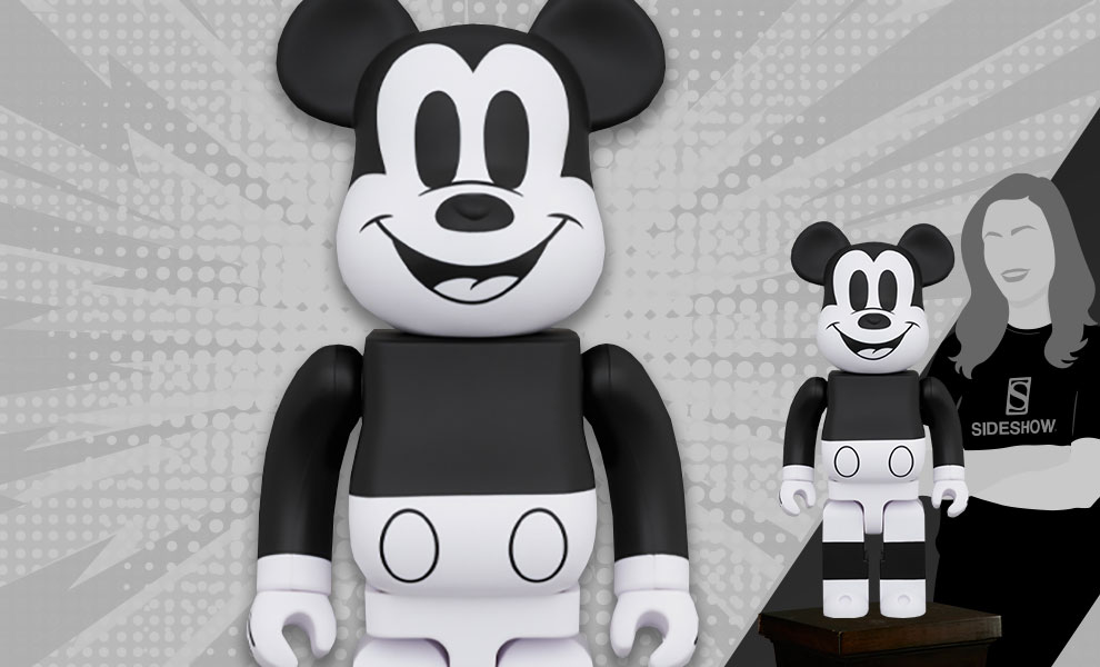 Gallery Feature Image of Be@rbrick Mickey Mouse (Black & White 2020 Version) 1000% Collectible Figure - Click to open image gallery