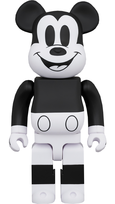 Medicom Toy Be@rbrick Mickey Mouse (Black & White 2020 Version) 1000% Collectible Figure
