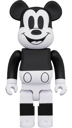 Be@rbrick Mickey Mouse (Black & White 2020 Version) 1000% Collectible Figure