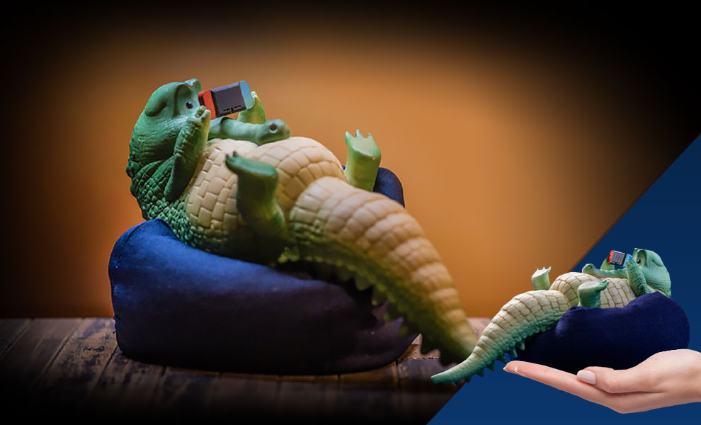 Gallery Feature Image of Crocodile Figurine - Click to open image gallery