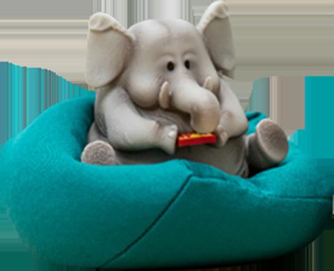 Manas SUM Elephant Figurine