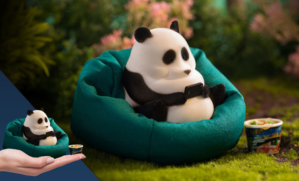 Gallery Feature Image of Panda Figurine - Click to open image gallery
