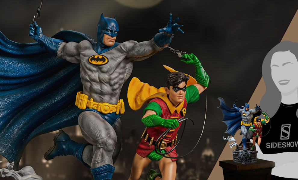 Gallery Feature Image of Batman & Robin Deluxe 1:10 Scale Statue - Click to open image gallery